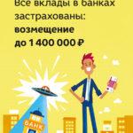 Вклад в банк застрахован